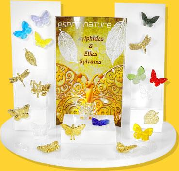 Présentoir esprit nature papillons Prime
