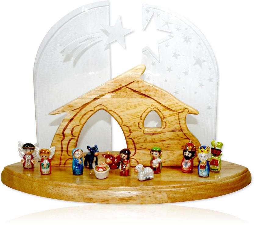 Présentoir Nativité bois Prime