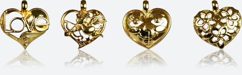 Prime - Série de fèves cœurs dorés
