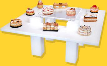 Présentoir Table Blanche Paris Brest