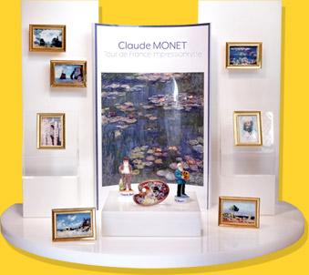 Présentoir Muséo Blanc Claude Monnet