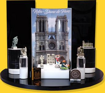 Présentoir Muséo Noir Notre Dame De Paris