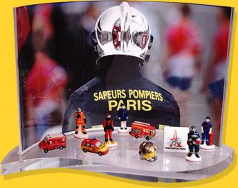 Présentoir Goutte Sapeurs Pompiers De Paris