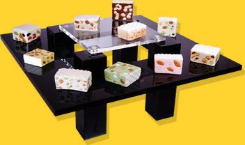 Présentoir Table Noire Nougats Et Nougatine