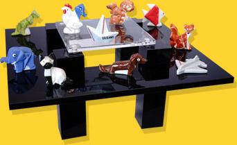 Présentoir Table Noire Original Origami