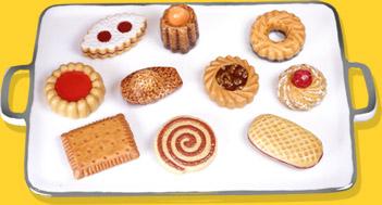 Plateau Porcelaine Biscuits Et Gourmandises