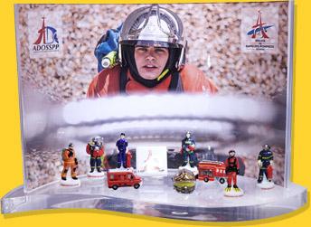 Présentoir Goutte - Colletion de fèves Sapeurs-pompiers de Paris